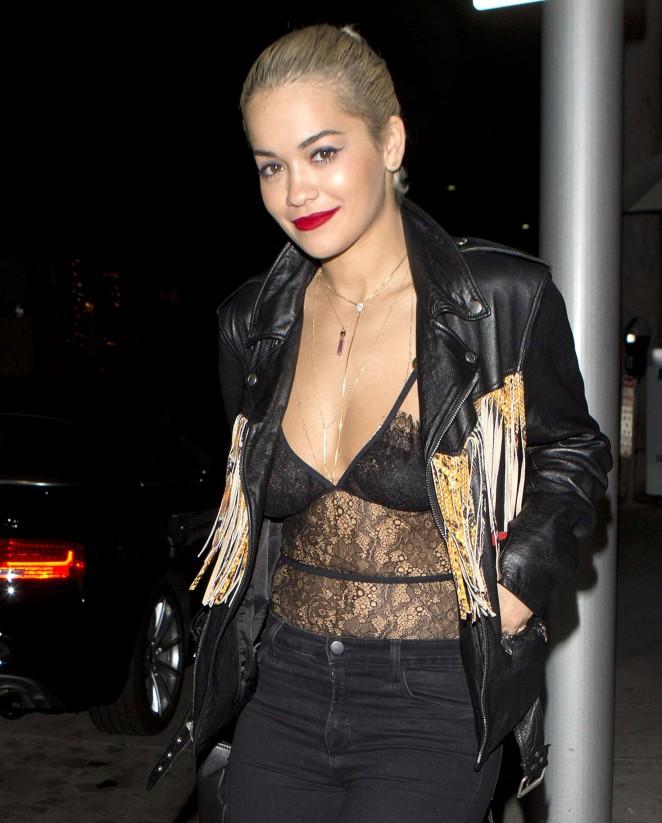 Rita Ora Leaving Mr. Chow Restaurant in Beverly Hills