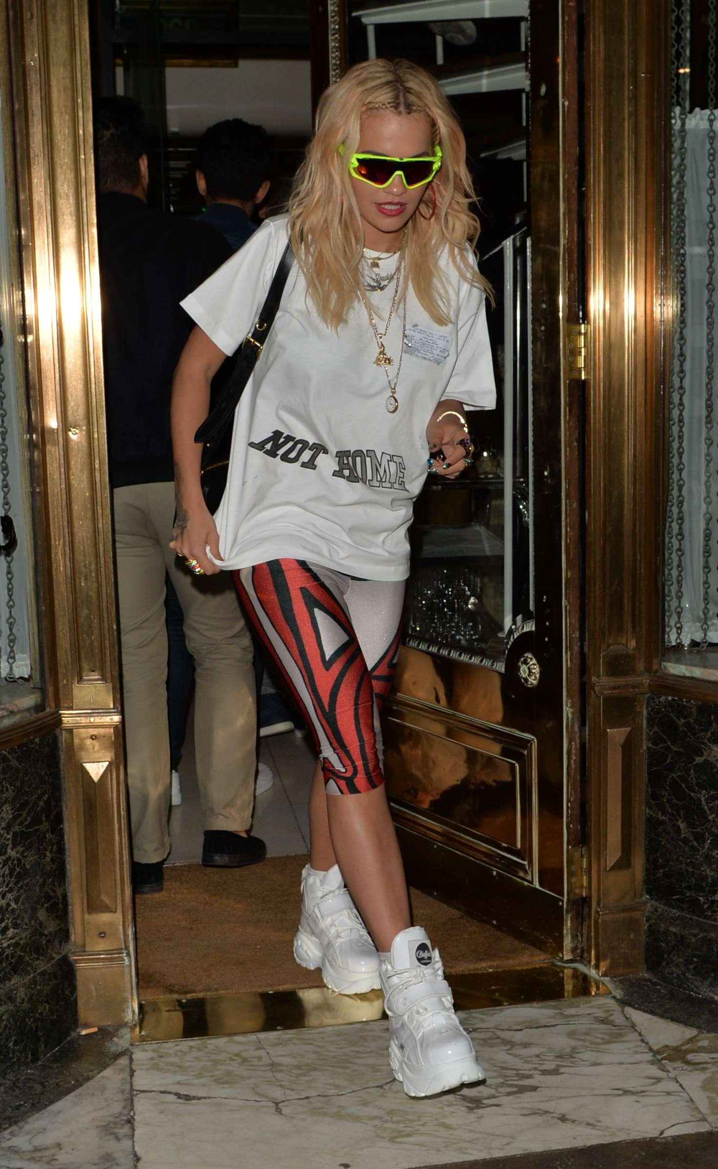 Rita Ora - Leaving Mr Chow Restaurant in London