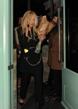 Rita Ora - Leaving 'Sexy Fish' Restaurant in London