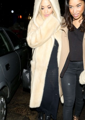 Rita Ora Leaving Tape Nightclub in London