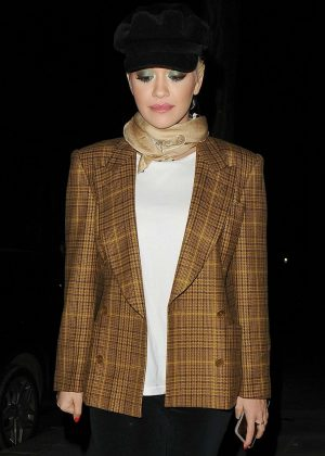 Rita Ora - Leaving Television Centre in London