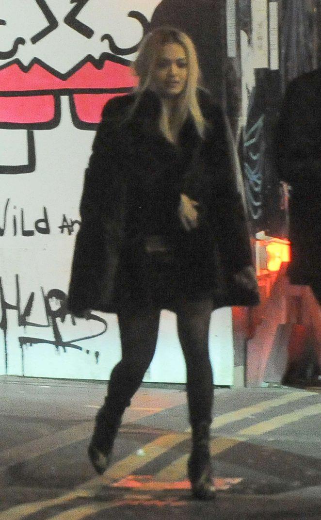 Rita Ora - Leaving The Box Nightclub in London