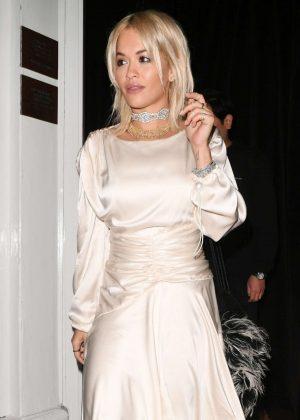 Rita Ora - Leaving the Casa Cruz restaurant in Notting Hill