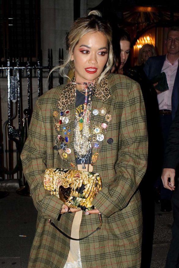 Rita Ora - Leaving the Chiltern Firehouse in London