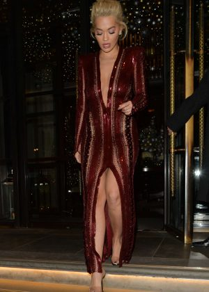 Rita Ora - Leaving The Corinthia Hotel in London