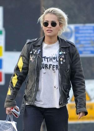 Rita Ora - Leaving 'The Lansdowne' in London