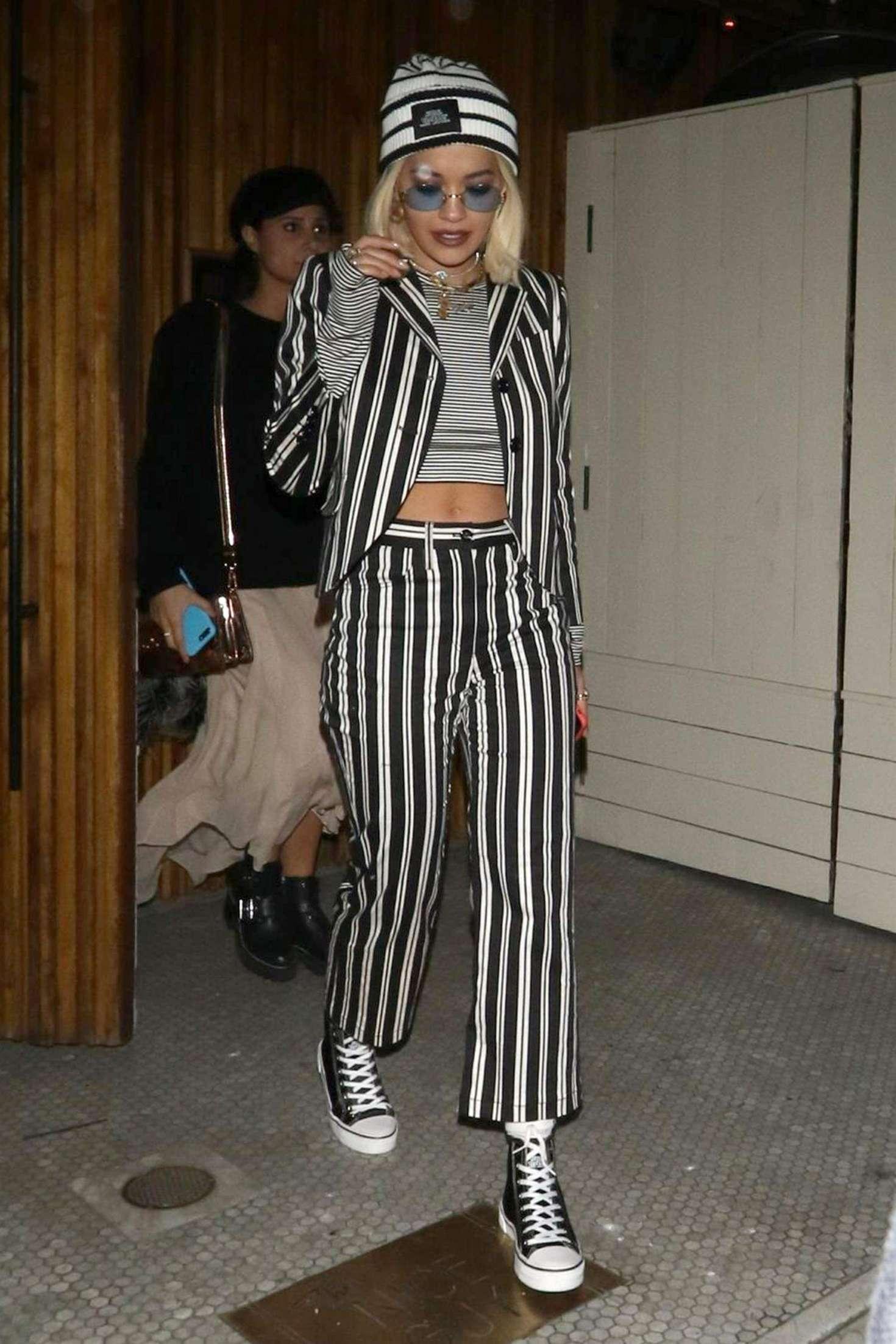 Rita Ora – Leaving The Nice Guy restaurant in West Hollywood