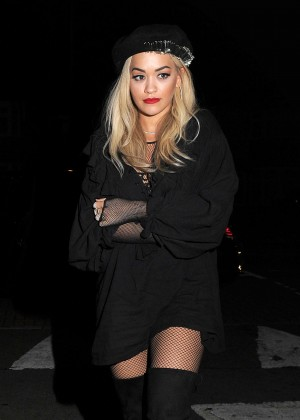 Rita Ora - Leaving the Soho House in London