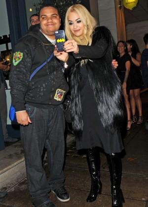 Rita Ora - Leaving Vas J Morgan's Birthday Party in London