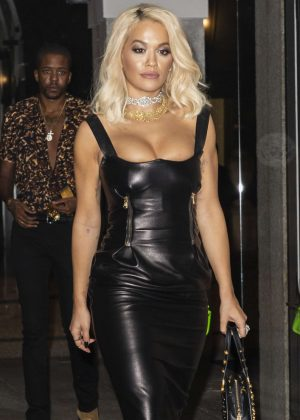 Rita Ora - Leaving Versace After Party in Milan