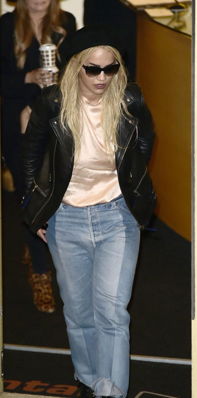 Rita Ora - Leaving X Factor studios in London