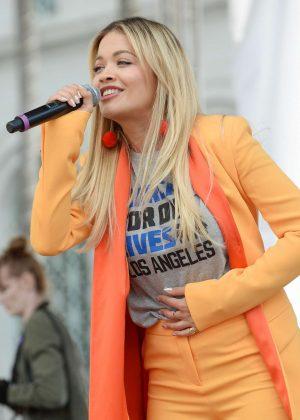 Rita Ora - March at the anti-gun 'March For Our Lives' in LA