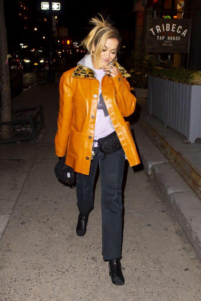 Rita Ora - Night out in NYC
