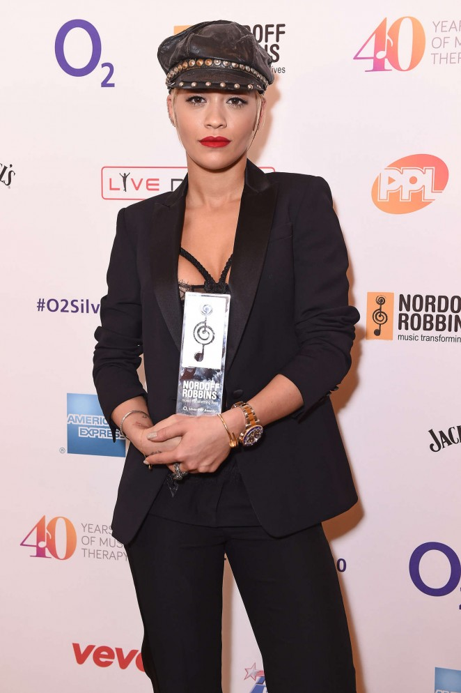 Rita Ora - Nordoff Robbins O2 Silver Clef Awards in London