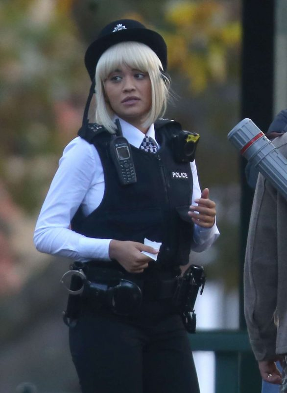 Rita Ora - On the set of Oliver Remake in London