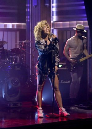 Rita Ora on 'The Tonight Show Starring Jimmy Fallon' in New York
