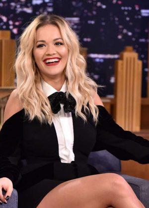 Rita Ora - on The Tonight Show Starring Jimmy Fallon in NYC