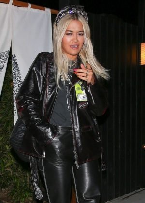 Rita Ora – Out for sushi dinner in West Hollywood