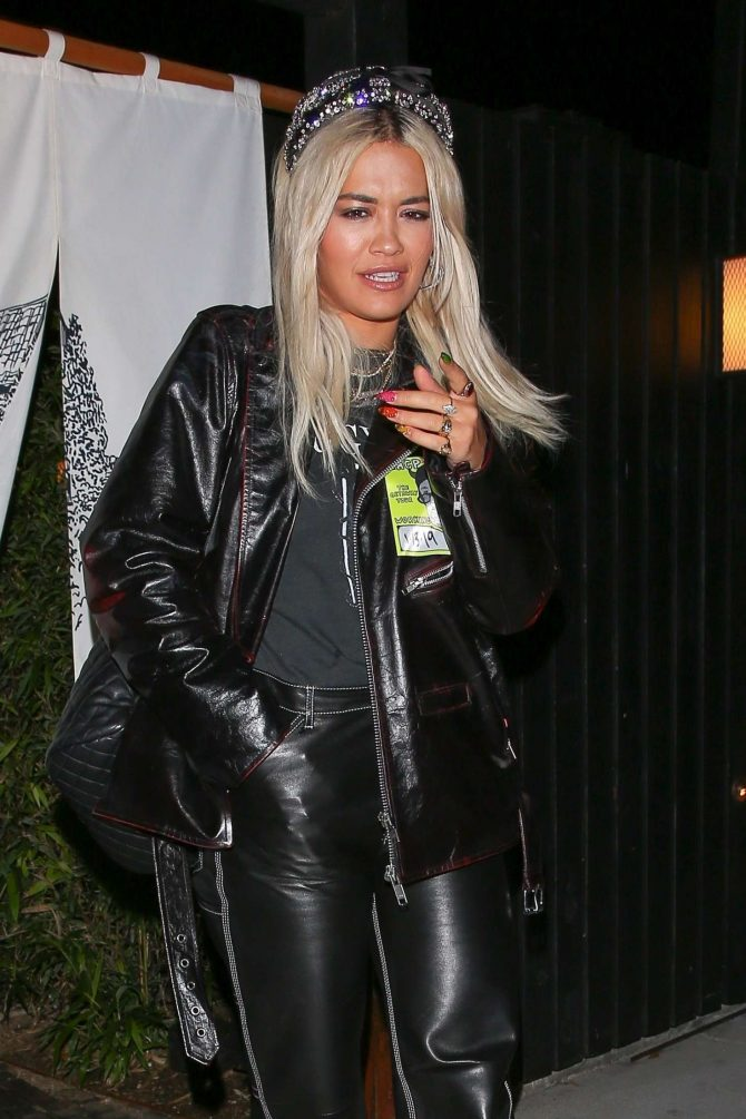 Rita Ora - Out for sushi dinner in West Hollywood