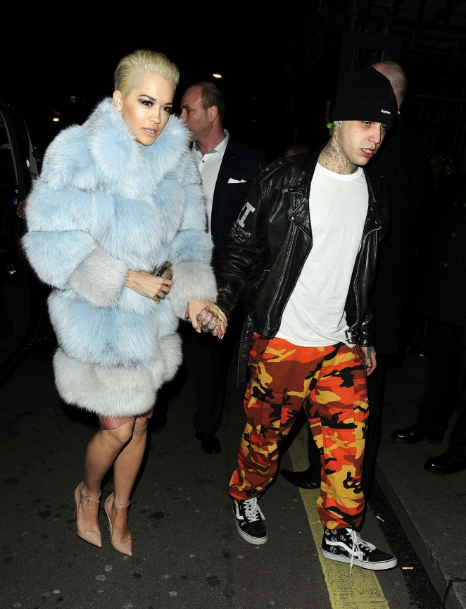 Rita Ora with boyfriend Ricky Hil out in London