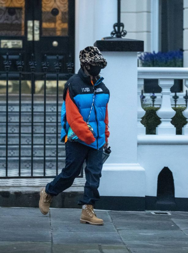 Rita Ora - Out on cold London weather