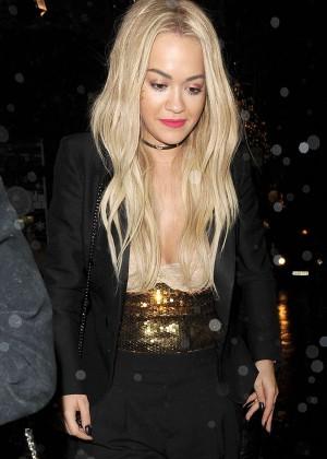 Rita Ora - Outside China Tang Restaurnt in London