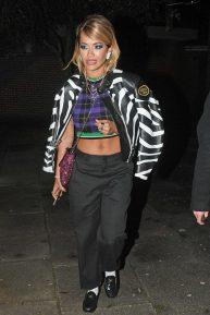 Rita Ora - Outside her house in London