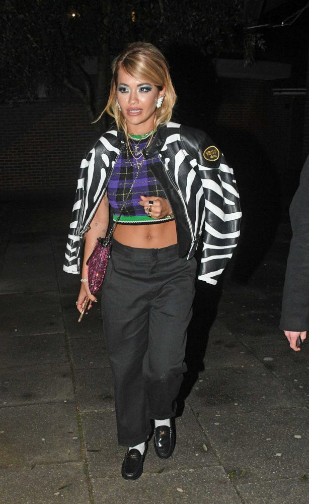 Rita Ora - Outside her house in London