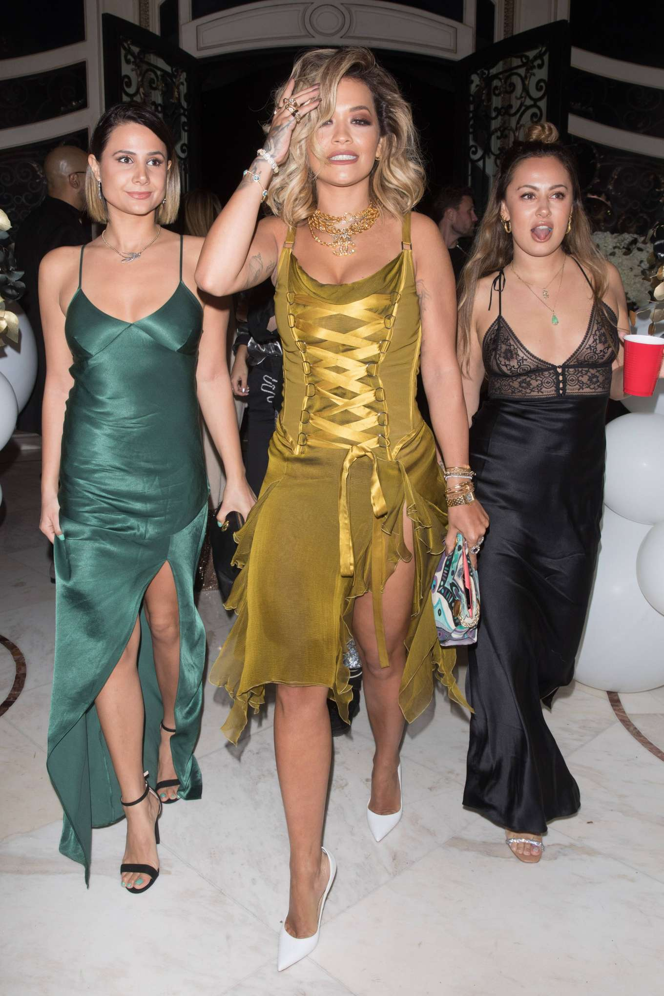 Rita Ora - Outside The Weeknd's New Year's party in Beverly Hills