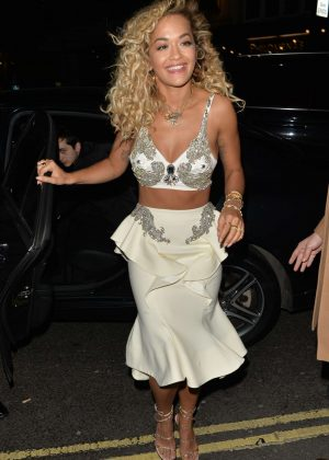 Rita Ora - Outside Warner Music Brits After Party in London