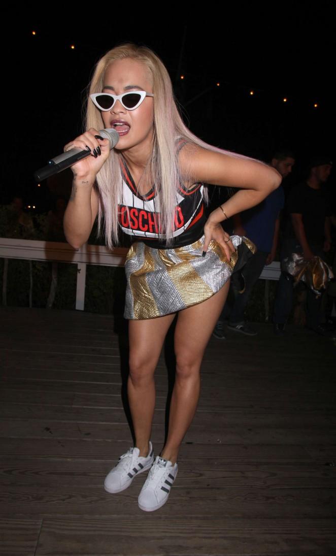 Rita Ora - Performing at Tommy Saleh's Surf Sundays in Montauk