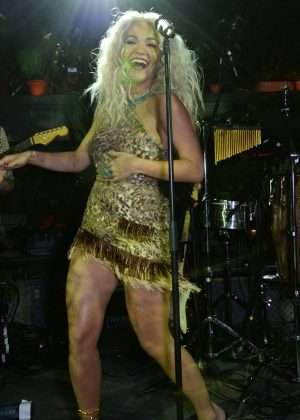 Rita Ora - Performs at the Jungle Party in London