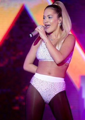 Rita Ora - Performs on the stage during Billboard Radio Live in Hong Kong