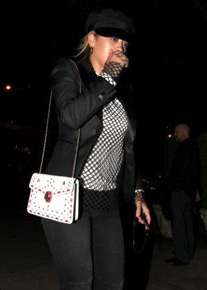 Rita Ora Returning to her hotel in New York City