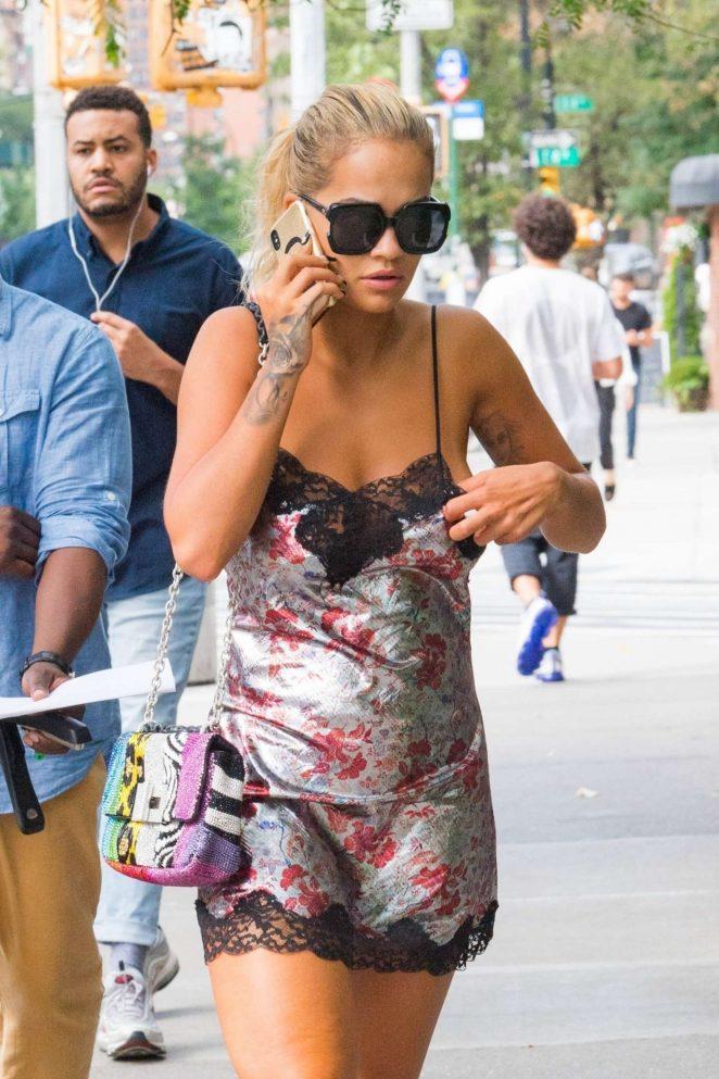Rita Ora - Returns to the Bowery Hotel in NYC