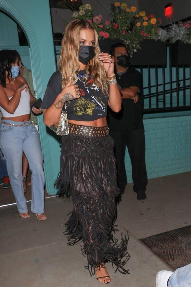 Rita Ora - Seen at a Los Angeles restaurant