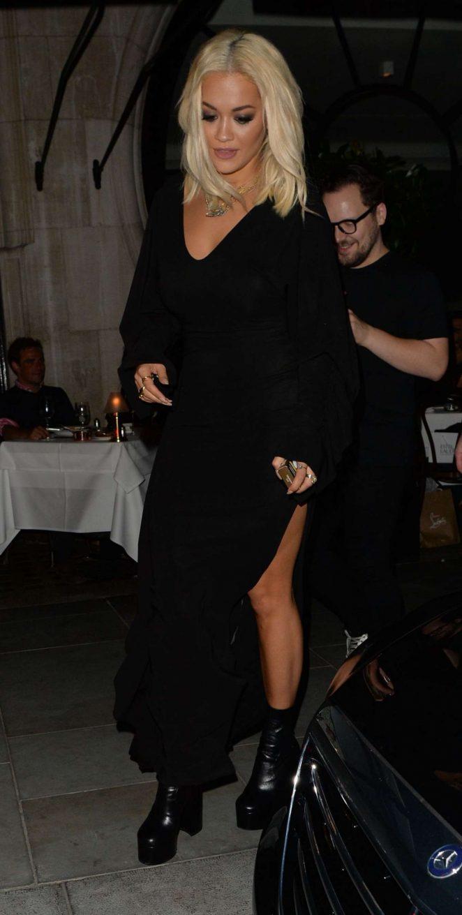 Rita Ora -Seen at Scott's Restaurant In London