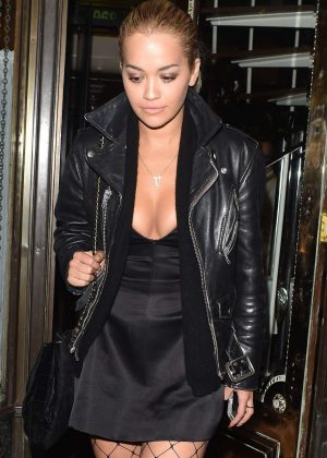Rita Ora - Seen leaving Mr Chow's Restaurant in London