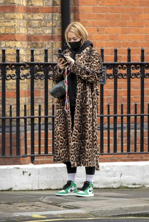 Rita Ora - seen out in central London