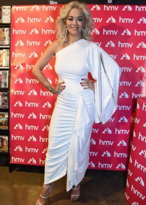 Rita Ora - Signing copies of her new album Phoenix for fans in Liverpool