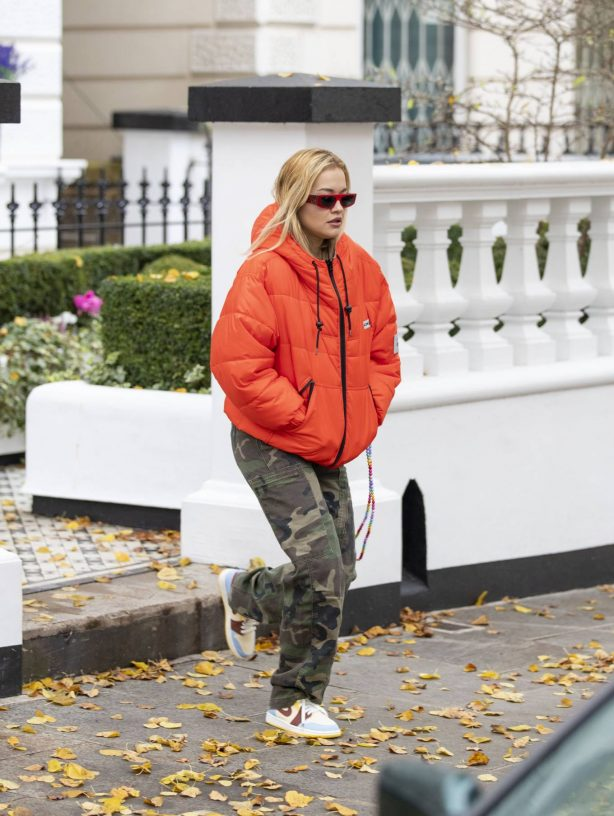 Rita Ora - Spotted leaving her home in London
