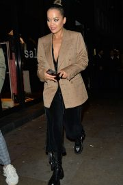 Rita Ora - Spotted leaving Ours restaurant in Kensington
