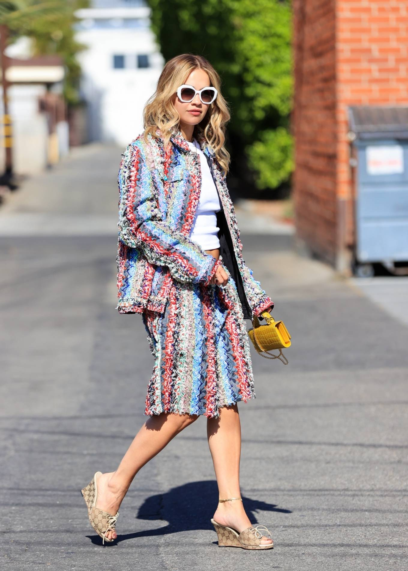 Rita Ora - Steps out in a colorful outfit in West Hollywood