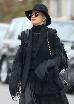 Rita Ora Street Style - Out and about in London