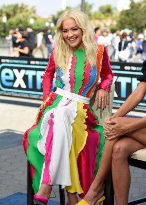 Rita Ora - Visits 'Extra' at Universal Studios Hollywood