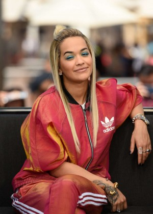 Rita Ora - Visits 'Extra' in Hollywood