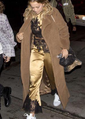 Rita Ora Wearing Her Pajamas At Matsuhisa Japanese