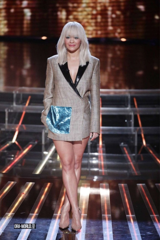 Rita Ora - X Factor Set in London