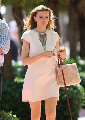 Rita Rusic in Mini Dress out in Miami