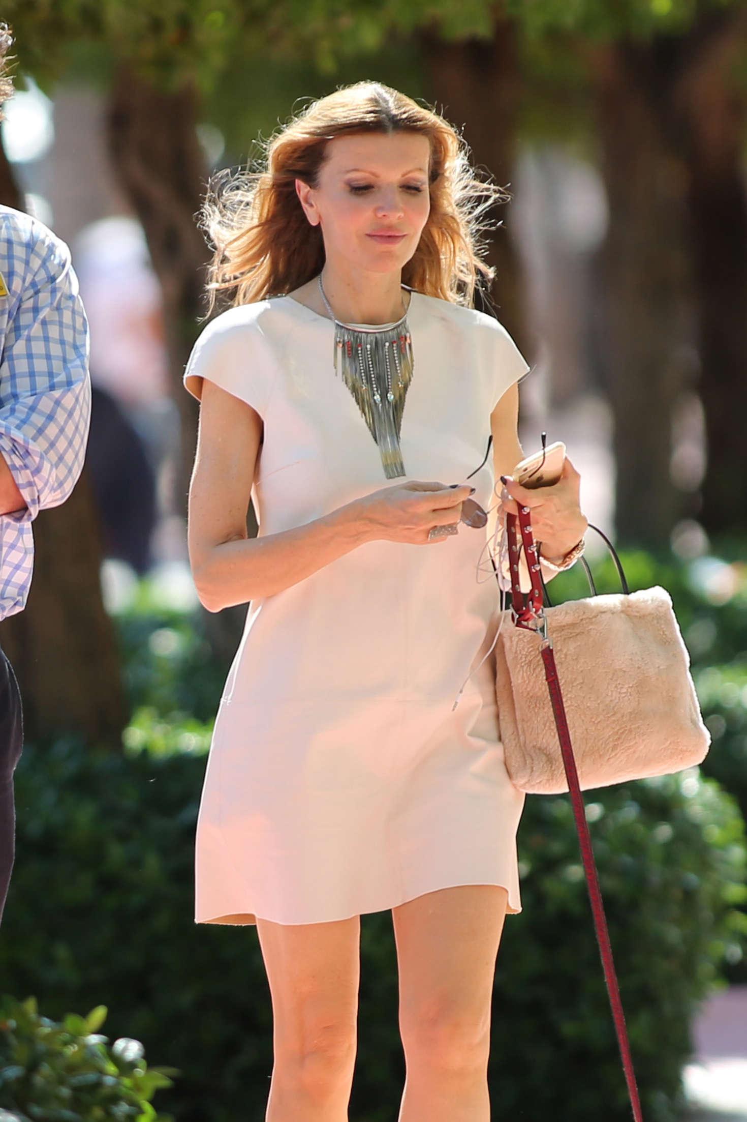 Rita Rusic in Mini Dress out in Miami